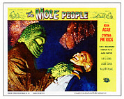 1950s Poster Art Photo Metal Prints - The Mole People, On Right Nestor Paiva Metal Print by Everett