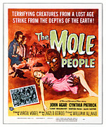 1950s Movies Framed Prints - The Mole People, Upper Left Framed Print by Everett