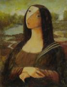 Optimistic Paintings - The Mona Lisa Next Door by Glenn Quist