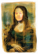 Da Vinci Mixed Media - The Mona Lisa by Russell Pierce