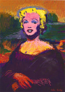 Marylin Paintings - The Mona Marilyn by Colin Hurley