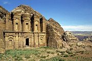 Spirituality Metal Prints - The Monastery Ad Dayr at Petra Metal Print by Sami Sarkis