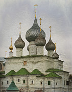 Onion Domes Photos - The Monastery of the Resurrection. Uglich Russia by Juli Scalzi