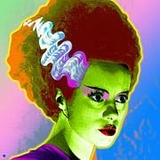 Warhol Digital Art Prints - The Monsters Bride Print by Gary Grayson