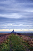 Dyke Posters - The Mont Saint Michel in Normandy France Poster by Olivier Le Queinec