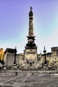 Monument Circle Prints - The Monument in HDR grunge Print by David PixelParable