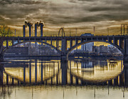 Highway Digital Art Prints - The Mood Through the Third Avenue Bridge Print by Bill Tiepelman