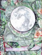Luna Mixed Media Prints - The Moon At Home Print by Jeremy Robinson