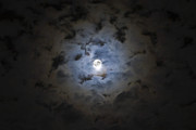 Halo Framed Prints - The Moon Covered By A Layer Of Clouds Framed Print by Miguel Claro