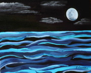 Nightime Paintings - The Moon by Ivonne Campbell