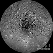 S Pole Posters - The Moons North Pole Poster by NASA/Science Source
