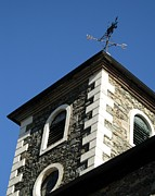 Weathervane Prints - The Moot Hall of Keswick Print by Deborah Mantle