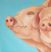 Pig Paintings - The Morning Breeze by Veronique Le Merre