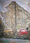 Downtown Mixed Media Originals - The Morning by Jacob  Hitt