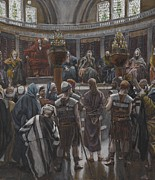 Christ Painting Posters - The Morning Judgement Poster by Tissot