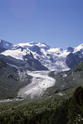 Graubunden Framed Prints - The Morteratsch Glacier Till Framed Print by Taylor S. Kennedy