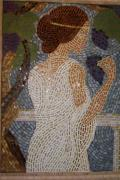 Wall Art Glass Art - The Mosaic Muse by Robin Miklatek