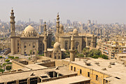 Africa-north Photos - The Mosque Of Sultan Hassan And The Mosque Of Ar-rifai Seen From The Citadel, Cairo, Egypt, North Africa, Africa by Andrea Thompson Photography