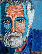 Beer Oil Paintings - The Most Interesting Man In The World by Ana Maria Edulescu