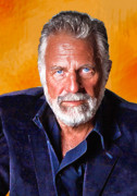 Portrait Digital Art Prints - The Most Interesting Man in the World II Print by Debora Cardaci