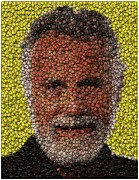 Bottle Caps Digital Art Posters - The Most Interesting Mosaic in the World Poster by Paul Van Scott