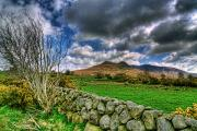 Country Scene Mixed Media - The Mournes Stone Walls by Kim Shatwell-Irishphotographer