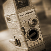 Sepia Tone Digital Art - The Movie Camera by Mike McGlothlen