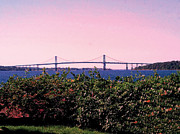New England Ocean Digital Art Posters - The Mt Hope Bridge Poster by Tom Prendergast