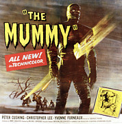 1950s Poster Art Framed Prints - The Mummy, Christopher Lee, 1959 Framed Print by Everett