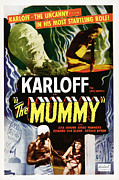 Classic Horror Prints - The Mummy, Top Left Boris Karloff Top Print by Everett