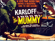 Horror Movies Framed Prints - The Mummy, Upper Left Boris Karloff Framed Print by Everett