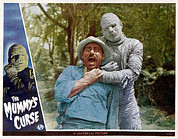 Lobbycard Prints - The Mummys Curse, From Left Kurt Katch Print by Everett