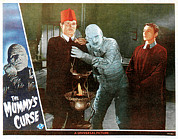 Lobbycard Framed Prints - The Mummys Curse, From Left Peter Coe Framed Print by Everett