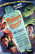 1944 Movies Posters - The Mummys Ghost, Lon Chaney Jr., 1944 Poster by Everett