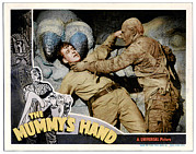 Lobbycard Framed Prints - The Mummys Hand, From Left Dick Foran Framed Print by Everett