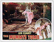 Lobbycard Framed Prints - The Mummys Tomb, Elyse Knox, Lon Chaney Framed Print by Everett