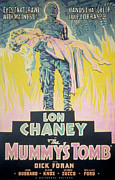 1940s Poster Art Framed Prints - The Mummys Tomb, Lon Chaney, Jr., Elyse Framed Print by Everett