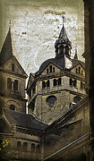 Minster Prints - The Munsterkerk Roermond Print by Mary Machare