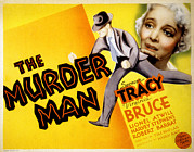 Murder Prints - The Murder Man, Spencer Tracy, Virginia Print by Everett