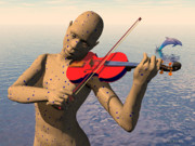 Violin Digital Art - The Muse by Walter Neal