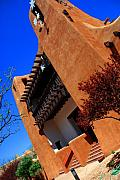 Art Museum Prints - The Museum of Art in Santa Fe Print by Susanne Van Hulst