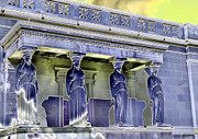 Caryatids Framed Prints - The Museum Supporters Framed Print by David Bearden