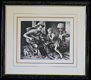 Original Lithographs Drawings - The Music Lesson F.60 by Thomas Hart Benton