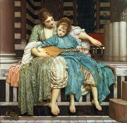Chords Paintings - The Music Lesson by Frederic Leighton
