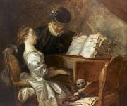 Fragonard Prints - The Music Lesson Print by Granger