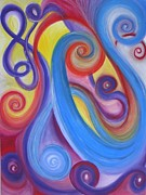 Abstract Music Pastels - The Music of Life by Lisa Bell