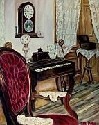 Ebony Paintings - The Music Room by Carole Spandau