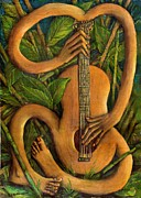 Blessings Paintings - The Music Within by Janice Hightower