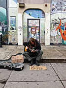 Struggling Photos - The Musician by Extrospection Art