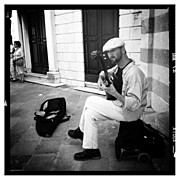 Photoport Art - The Musician In #venice  #insta_pick_bw by Wilder Biral